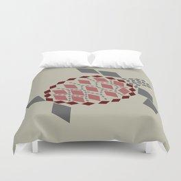 Diamond Mosaic Sea turtle Duvet Cover