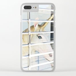 Arts District Unicorn Clear iPhone Case