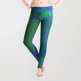 A Different View Of Earth - Abstract, textured, globe painting Leggings