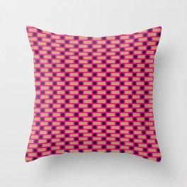 Brick (Pink, Brown, and Black) Throw Pillow