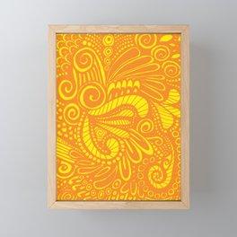 Mellow Yellow Parrot Framed Mini Art Print