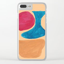 7  190330 Abstract Shapes Painting Clear iPhone Case