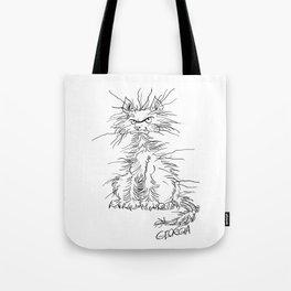 Disgruntled Cat Tote Bag