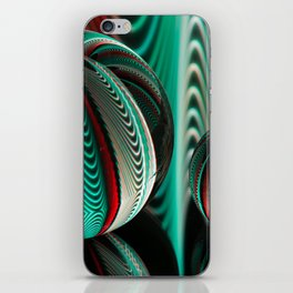 Waves in two crystal balls. iPhone Skin
