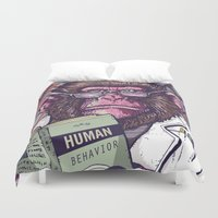 ape Duvet Covers featuring Ape Analyst by PRIMATE