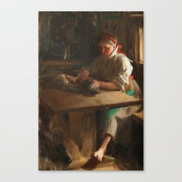 ANDERS ZORN, IDA PLOCKAR FÅGEL Canvas Print