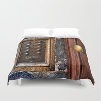 tinker bell Duvet Covers featuring door bell by Claude Gariepy