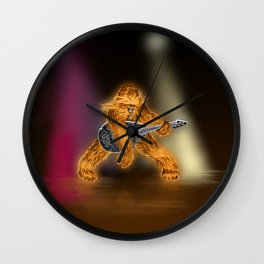 Chewbacca Rock Star Wall Clock
