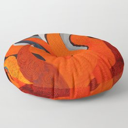 Battle of the Elements: Fire Floor Pillow