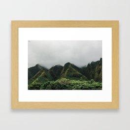 Iao Valley | Jungle Cliffs Framed Art Print