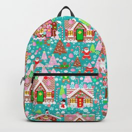 Christmas Gingerbread House Candy Village Backpack