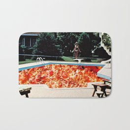 Pizza Pool Party Collage Bath Mat