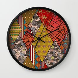 Rustic . Patchwork . Wall Clock