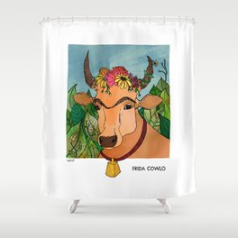 Frida Cowlo Shower Curtain
