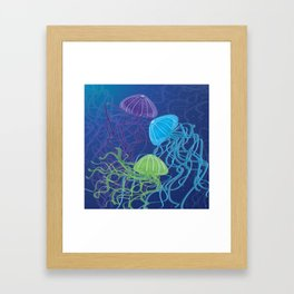 Ethereal Jellies Framed Art Print