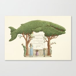 The Night Gardener - Whale Display  Canvas Print
