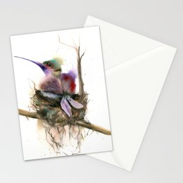 Hummingbird nest Stationery Cards