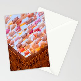 Colorful Tea Towels in the Wind Stationery Cards