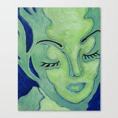 Mug Shot Blue/Lares and Penates Series Canvas Print