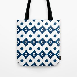 Abstract navy blue watercolor geometrical pattern Tote Bag
