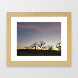 Autumn Sunset Silhouette - Pheasant Branch Conservancy Framed Art Print