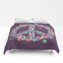 Peace. Floral wreath Comforters