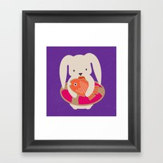Beach Bunny Framed Art Print