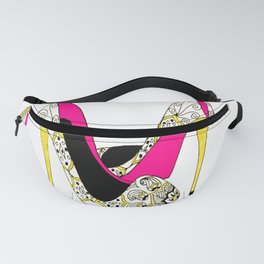 Girl Power Quote High Heels Fanny Pack