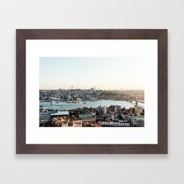 Perfect Turkish Sunsets - Istanbul, Turkey Framed Art Print