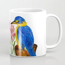 Pretty Kingfisher with Kangaroo Paw flowers Coffee Mug