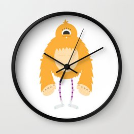 Ollie the Monster Wall Clock