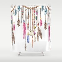 dreamer Shower Curtains featuring Dreamer by CrystalFairy