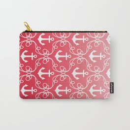 Nautical Knots Ombre Red Carry-All Pouch