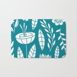 Blooming Field - teal Bath Mat