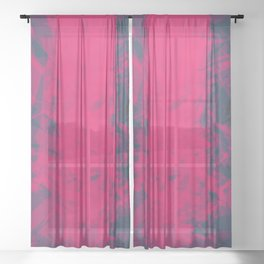 Shattered Purple Sheer Curtain