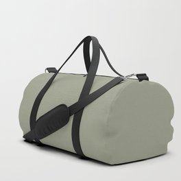 Pastel Sage Green Solid Color Pairs To Dunn & Edwards Flagstone Quartzite DET517 Duffle Bag