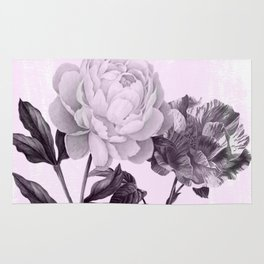 roses in purple and pink Rug