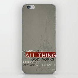 Romans 8:28 iPhone Skin