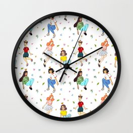 Girls Pattern Wall Clock