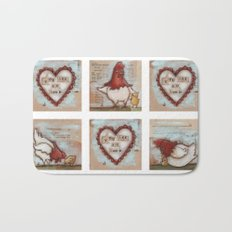 You Are So Loved Chickens - by Diane Duda Bath Mat