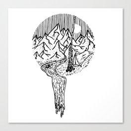 Mountain Campfires Canvas Print