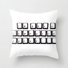 COMPUTER FREAK Throw Pillow