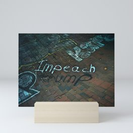Spray paint: Impeach Trump Mini Art Print