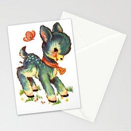 Little Blue Goat Toy Retro Vintage Transfer Stationery Cards