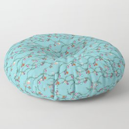 Holiday cheer soft blue Floor Pillow
