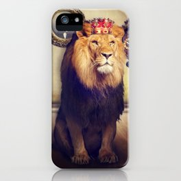 The royal lion iPhone Case