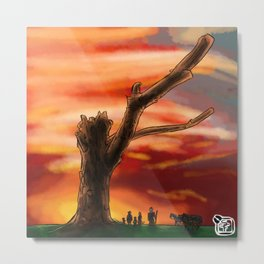 Dead Tree - Color Metal Print