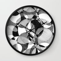 doodle Wall Clocks featuring Doodle by DeMoose_Art