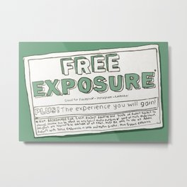 Free Exposure Metal Print