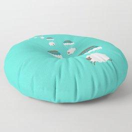 Sheepy clouds Floor Pillow